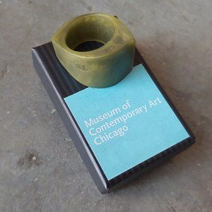 Museum of Contemporary Art Green Chunky Ring